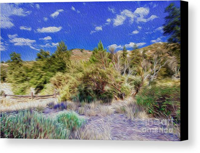 Outdoors Digital Art Canvas Print featuring the digital art A Place Of Serenity II by Kenneth Montgomery