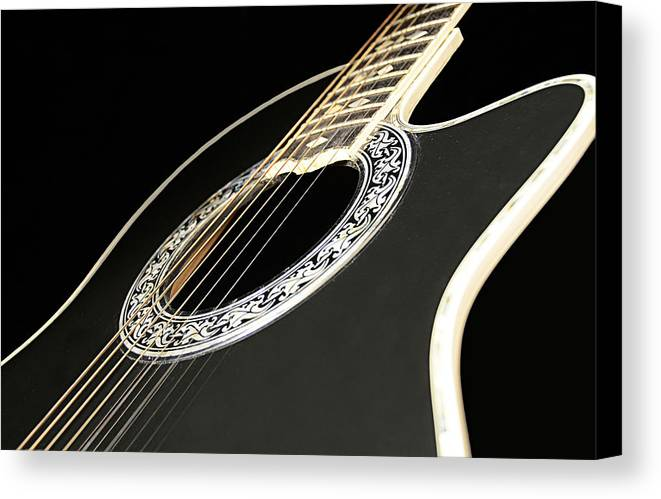 Guitar Canvas Print featuring the photograph If Only.......... by Renee Anderson