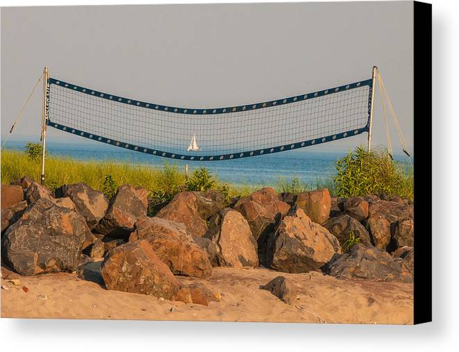 Westport Ct Canvas Print featuring the photograph A Summers End by Terry Cosgrave