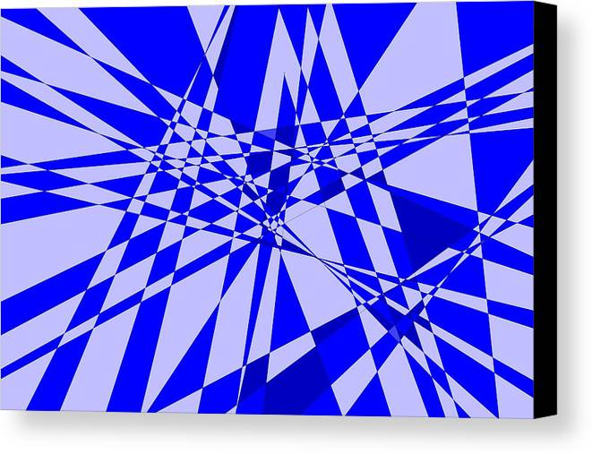 Original Canvas Print featuring the digital art Abstract 152 by J D Owen