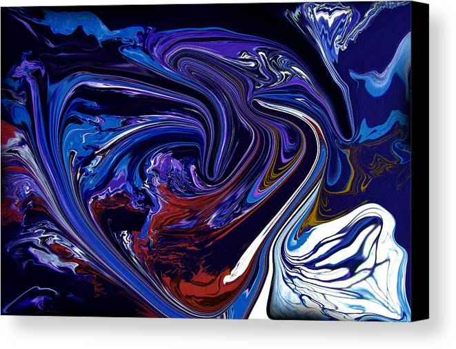 Original Canvas Print featuring the painting Abstract 170 by J D Owen