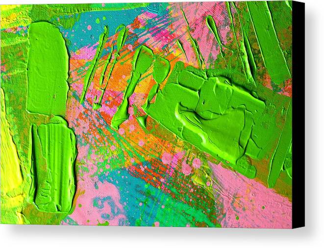 Abstract Canvas Print featuring the painting Abstract 6814 Diptych Cropped Xvi by John Nolan