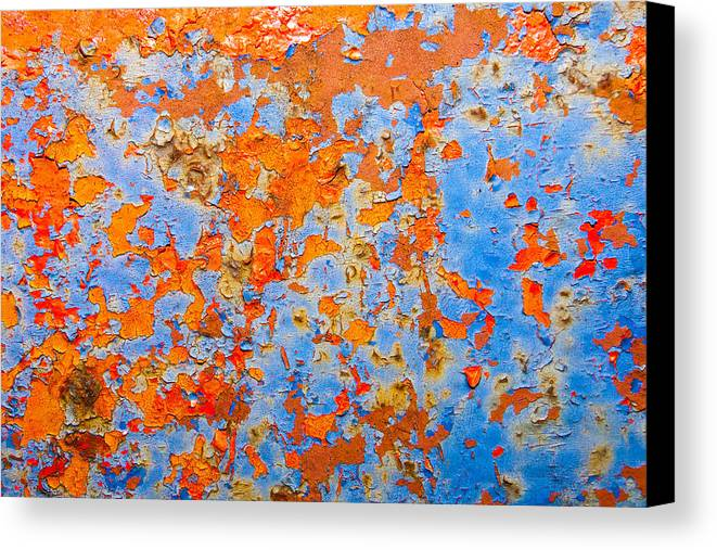 Abstracts Canvas Print featuring the photograph Abstract - Rust And Metal Series by Mark Weaver