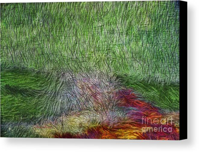 Abstract Canvas Print featuring the digital art Abstraction Of Life by Deborah Benoit
