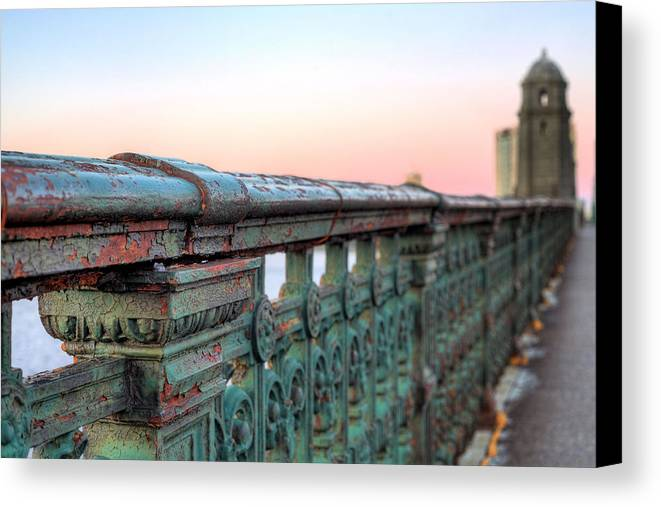 Longfellow Bridge Canvas Print featuring the photograph Across The Charles by JC Findley