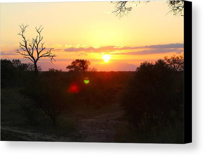 South Canvas Print featuring the photograph African Sunset by Evan Peller