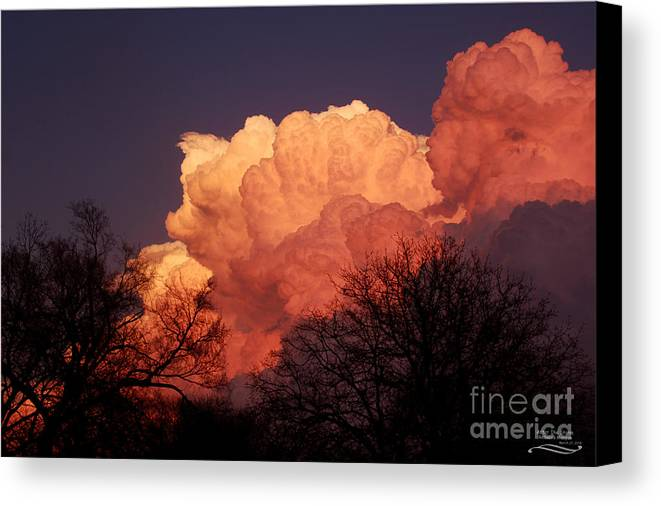 Sunset Canvas Print featuring the photograph After The Storm by Rebecca Morgan