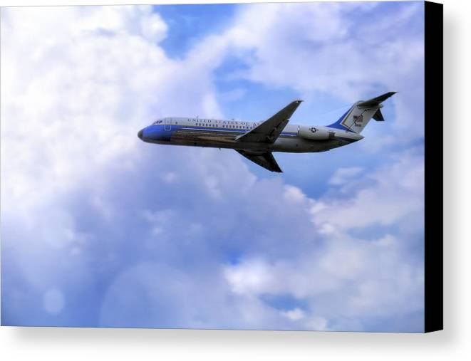 Air Force One Canvas Print featuring the photograph Air Force One - Mcdonnell Douglas - Dc-9 by Jason Politte
