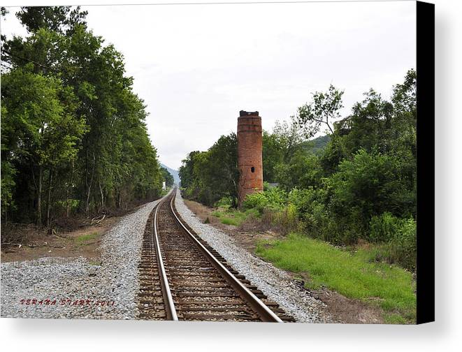 Alabama Canvas Print featuring the photograph Alabama Tracks by Verana Stark