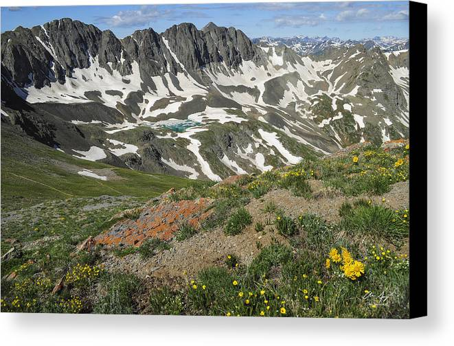 America Canvas Print featuring the photograph American Basin by Aaron Spong
