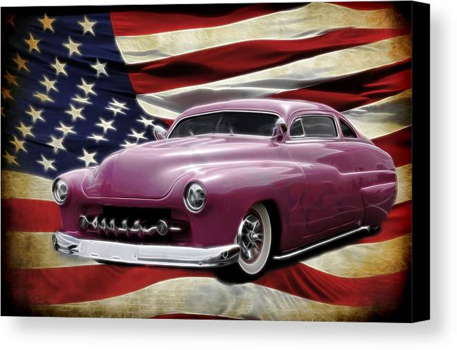 Classic Canvas Print featuring the photograph American Merc by Steve McKinzie