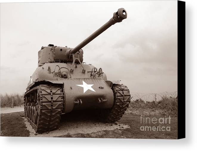 Sherman Canvas Print featuring the photograph American Tank by Olivier Le Queinec