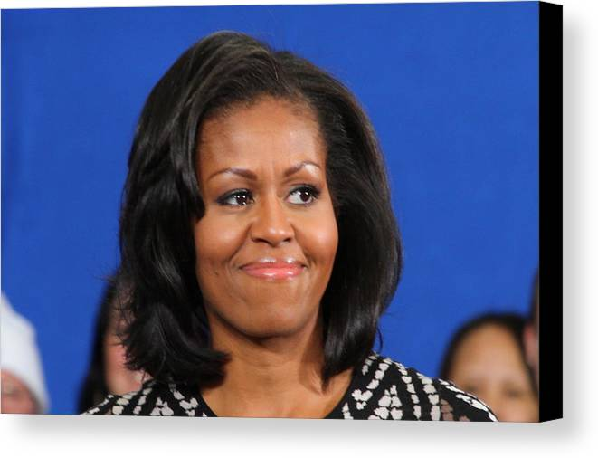 Michelle Canvas Print featuring the photograph America's First Lady by Mike Stouffer