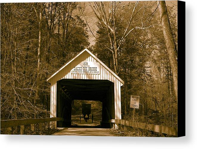 Landscape Canvas Print featuring the photograph Amish Ride Home by John McAllister