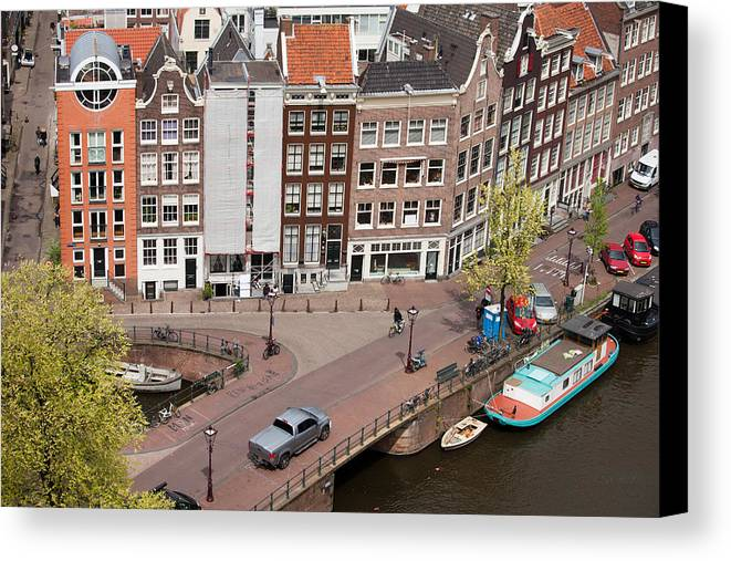 Amsterdam Canvas Print featuring the photograph Amsterdam Houses From Above by Artur Bogacki