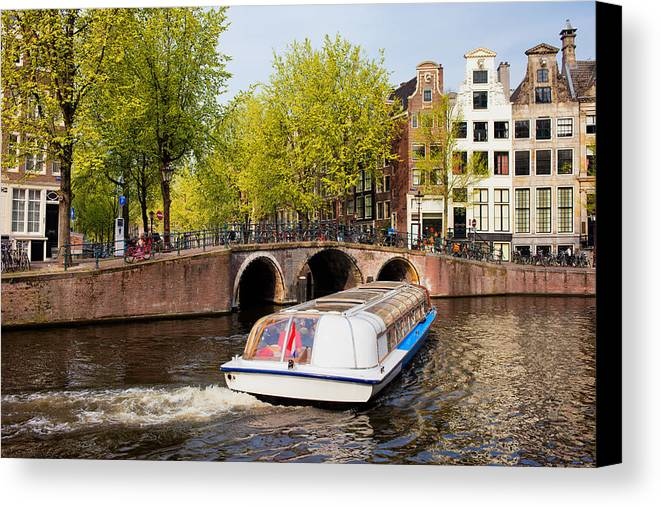 Amsterdam Canvas Print featuring the photograph Amsterdam In Spring by Artur Bogacki