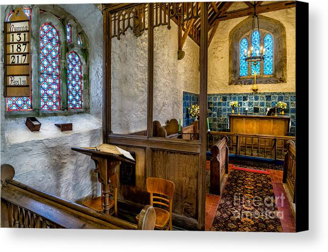 Chapel Canvas Print featuring the photograph Ancient Chapel 2 by Adrian Evans