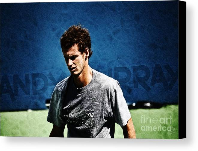 Andy Murray Canvas Print featuring the photograph Andy Murray by Nishanth Gopinathan