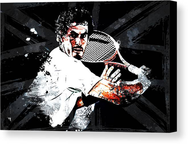 Andy Murray Canvas Print featuring the digital art Andy Murray by The DigArtisT