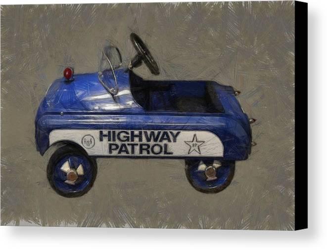 Pedal Car Canvas Print featuring the photograph Antique Pedal Car V by Michelle Calkins