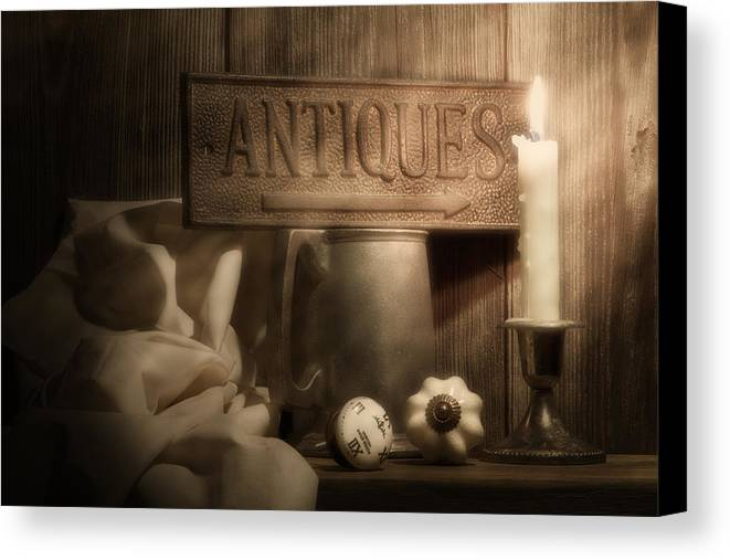 Antique Canvas Print featuring the photograph Antiques Still Life by Tom Mc Nemar