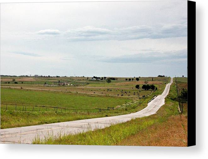 Road Canvas Print featuring the photograph Anywhere But Here by Joel Rams