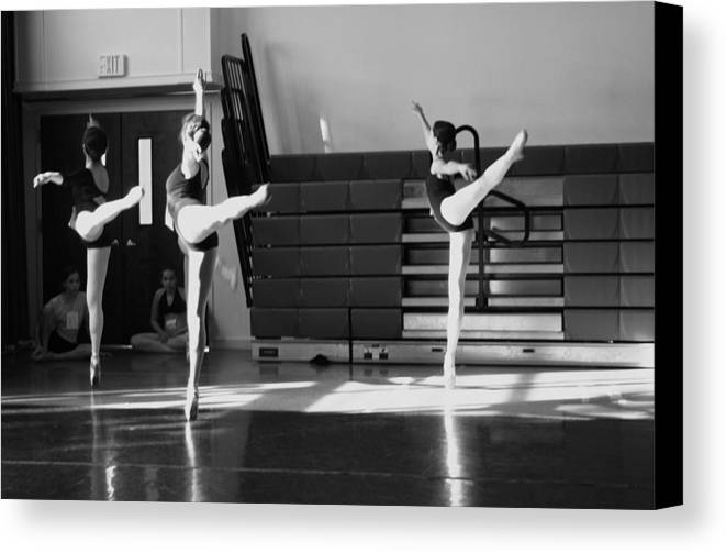 Ballet Canvas Print featuring the photograph Arabesques by Robin Mahboeb