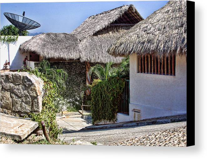 Travel Canvas Print featuring the photograph Architecture With Thathed Roofs by Linda Phelps
