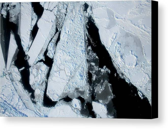 Sea Ice Canvas Print featuring the photograph Arctic Sea Ice At Lowest Maximum by Nasa/operation Ice Bridge