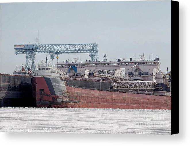 Great Lakes Canvas Print featuring the photograph Arthur Anderson Freighter by Nikki Vig