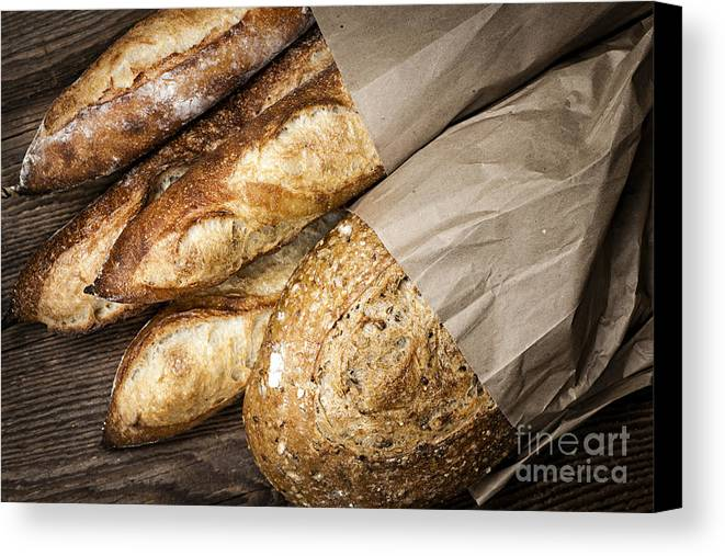Bread Canvas Print featuring the photograph Artisan Bread by Elena Elisseeva