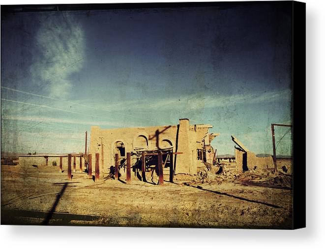 Dilapidated Canvas Print featuring the photograph Ashes To Ashes by Laurie Search