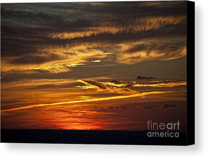 Crossing Atlantic Canvas Print featuring the photograph Atlantic Sunset by Shirley Mangini
