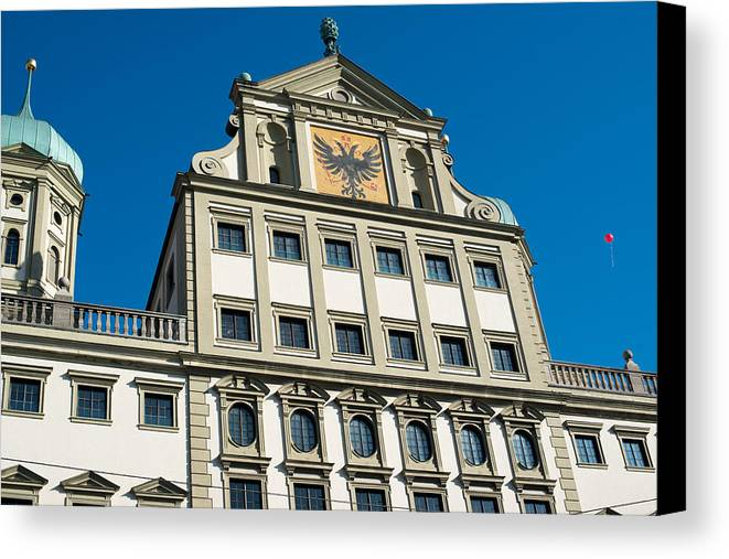 Augsburg Canvas Print featuring the photograph Augsburg Townhall - Rathaus by Frank Gaertner