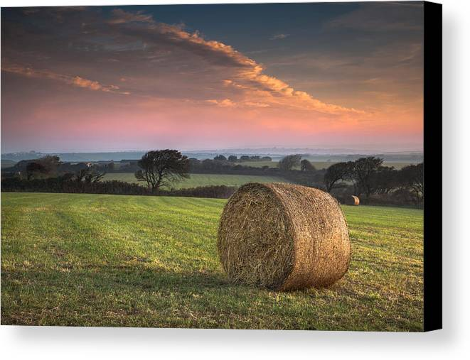 Landscape Canvas Print featuring the photograph Autumn In Cornwall by Christine Smart