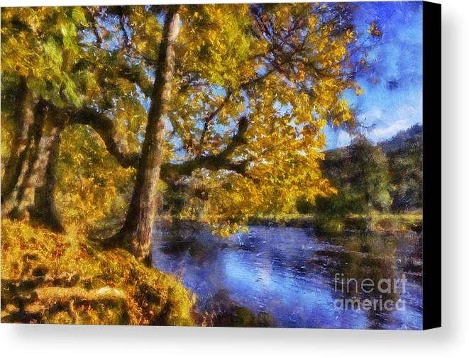 River Canvas Print featuring the photograph Autumn River by Ian Mitchell