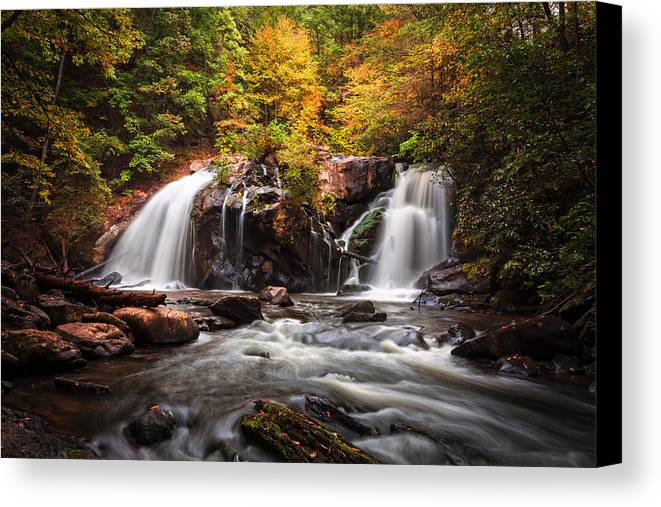 Appalachia Canvas Print featuring the photograph Autumn Rush by Debra and Dave Vanderlaan
