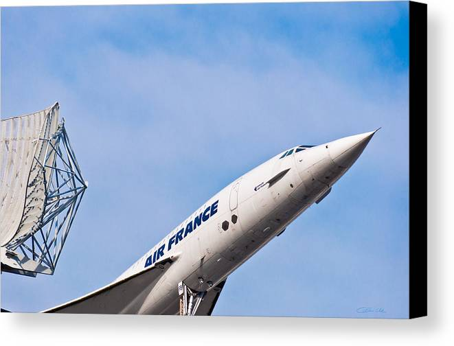 Concorde Canvas Print featuring the photograph Aviation Icons - Air France Concorde by Colin Utz