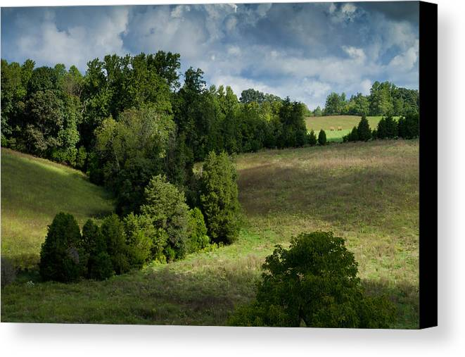 Mountain View Farm Canvas Print featuring the photograph Back Pasture by Nathaniel Kidd