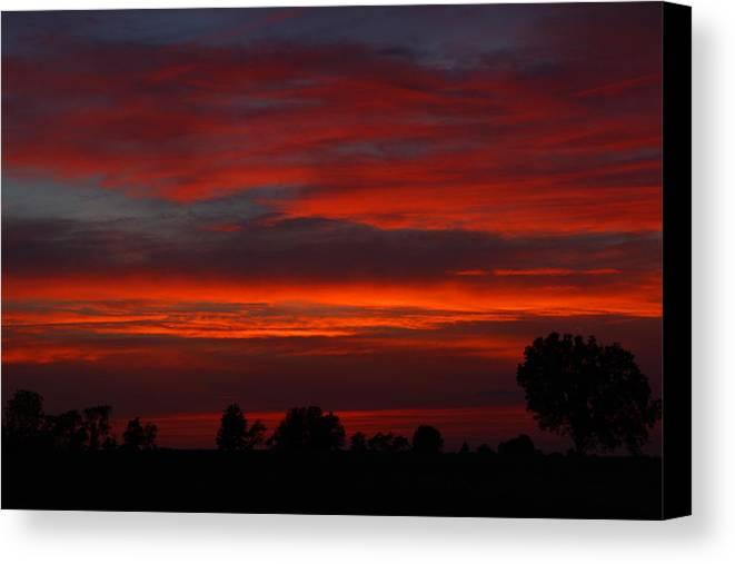 Sunset Canvas Print featuring the photograph Backyard Beautiful by Tabitha Johnson