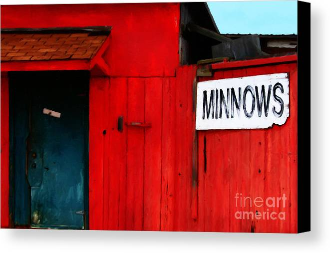 Americana Canvas Print featuring the photograph Bait Shop 20130309-2 by Wingsdomain Art and Photography