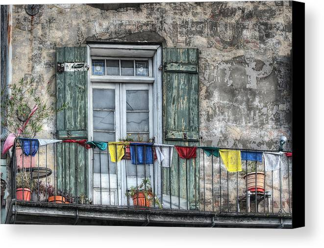 Balcony Canvas Print featuring the photograph Balcony View by Brenda Bryant