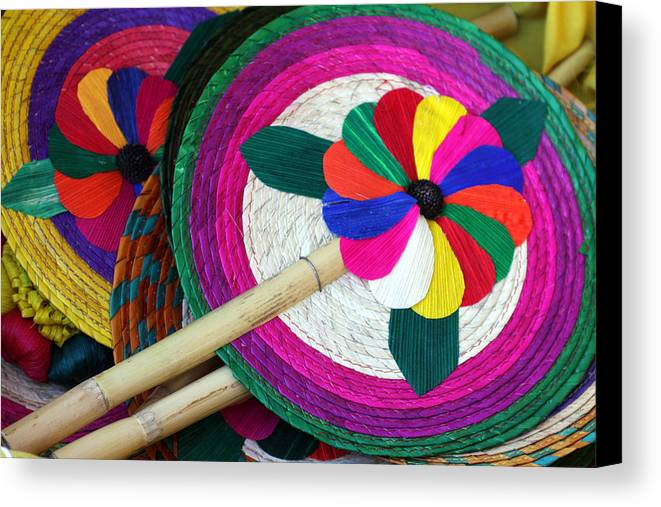 Mexico Canvas Print featuring the photograph Bamboo And Palm Fan by Lee Vanderwalker