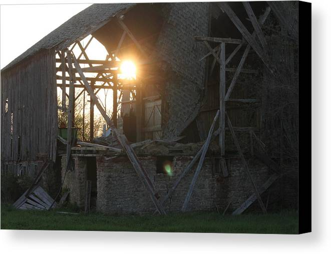 Ghost Canvas Print featuring the photograph Barn by Dan Young
