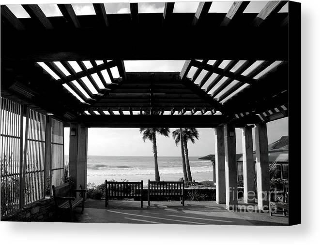 Architecture Canvas Print featuring the photograph Beach In Del Mar California by Julia Hiebaum