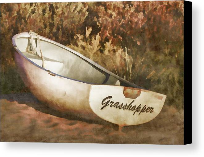 Rowboat Canvas Print featuring the photograph Beached Rowboat by Carol Leigh