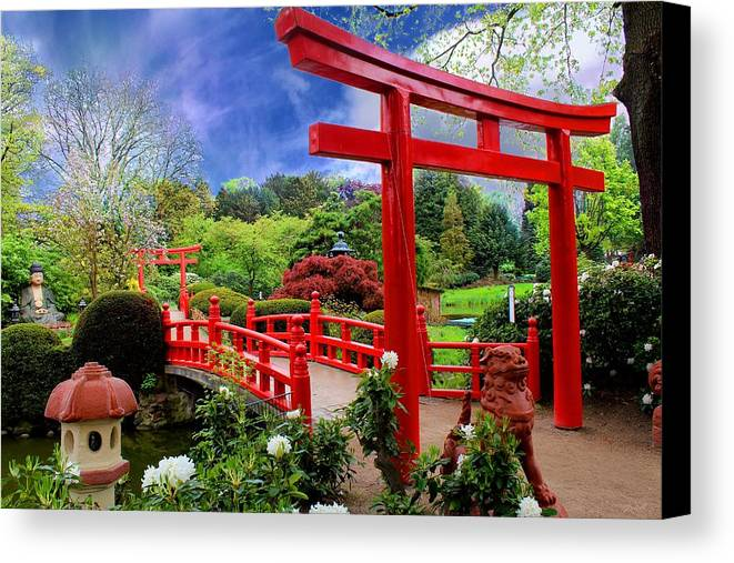 Discount Canvas Print featuring the photograph Beautiful Zen Garden by Julia Fine Art And Photography