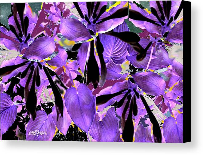Beware The Midnight Garden Canvas Print featuring the digital art Beware The Midnight Garden by Seth Weaver