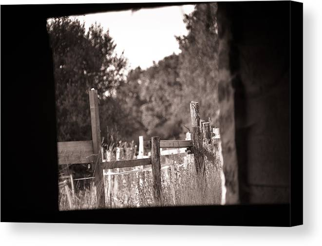 Loriental Canvas Print featuring the photograph Beyond The Stable by Loriental Photography