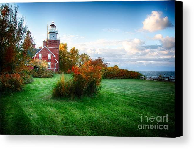 Michigan Canvas Print featuring the photograph Big Bay Lighthouse by Todd Bielby